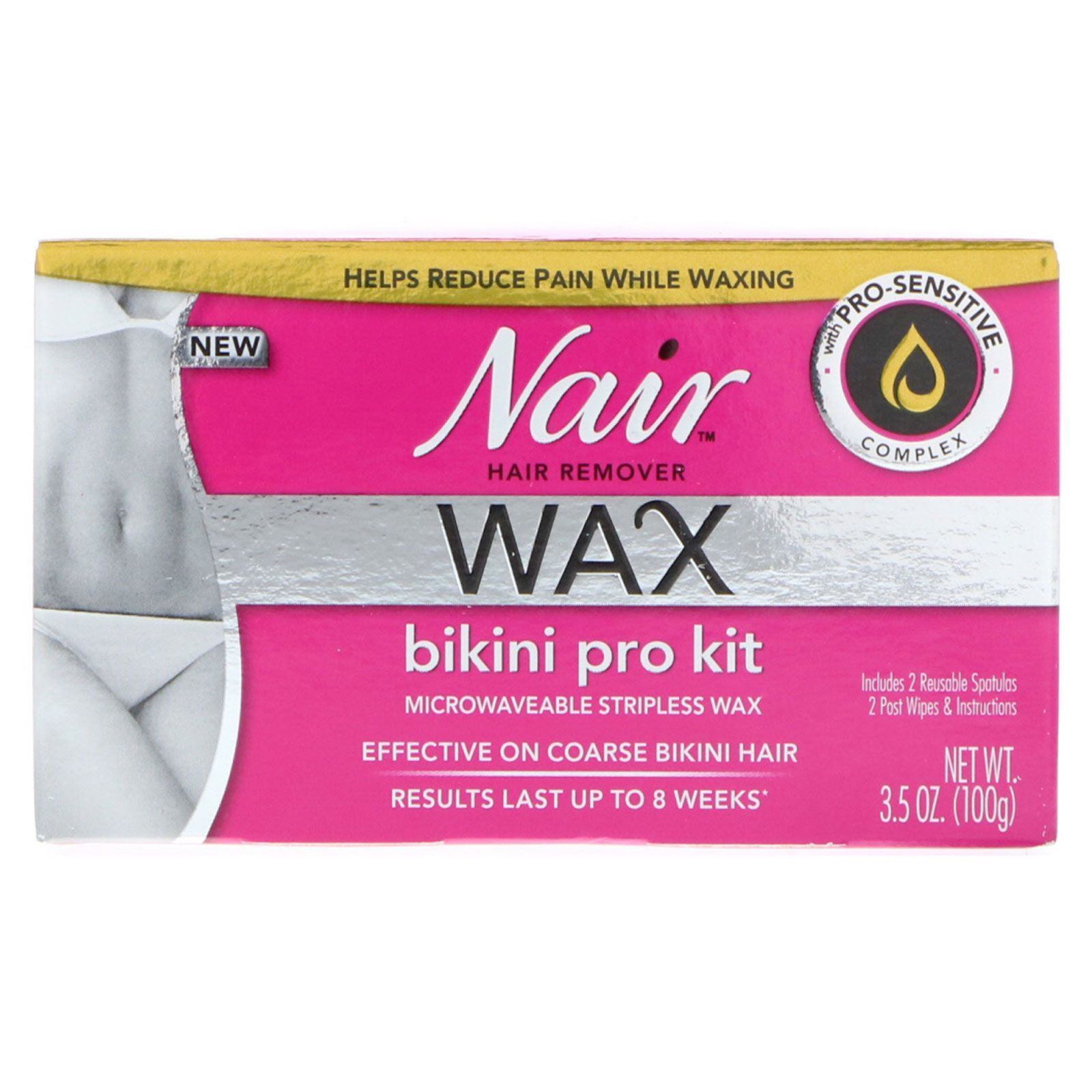 Nair Hair Remover Wax Bikini Stripless Pro Kit 3 5 Oz 100 G
